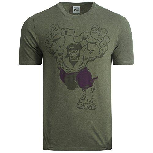 Marvel Comics -  T-shirt - Uomo INCREDIBLE HULK GREEN Small