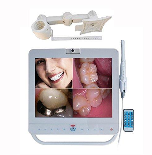 Die intraorale Kamera und Monitor Verdrahtetes 15-Zoll-Monitor mit Oral Kameraeinheit (einschließlich Halter + MP4-Player)