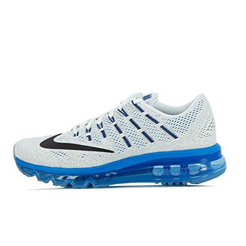Nike White / Black-Pht Blue-Pr Pltnm, Chaussures de Sport Garçon Blanc Cassé - Blanco (White / Black-Pht Blue-Pr Pltnm)
