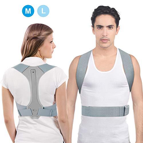 Haltungskorrektur UBRU Geradehalter zur Haltungskorrektur Rückentrainer Schulter Rückenstütze, Geradehalter Verstellbare und Schulterschmerzen für gerader Rücken für Damen Herren und Kinder