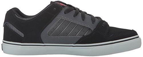DVS Shoes Herren Militia CT Skateboardschuhe Schwarz (BLK GRY RED 018)