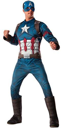 Ironman Erwachsene Kostüme (Captain America 3 Deluxe Captain America Costume Adult)