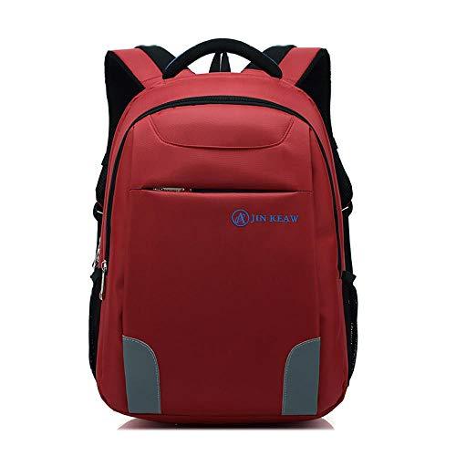 Schule Hochschule Rucksack Bookbag Laptop Rucksack Reisetasche Casual Daypack@Rot_19 Zoll