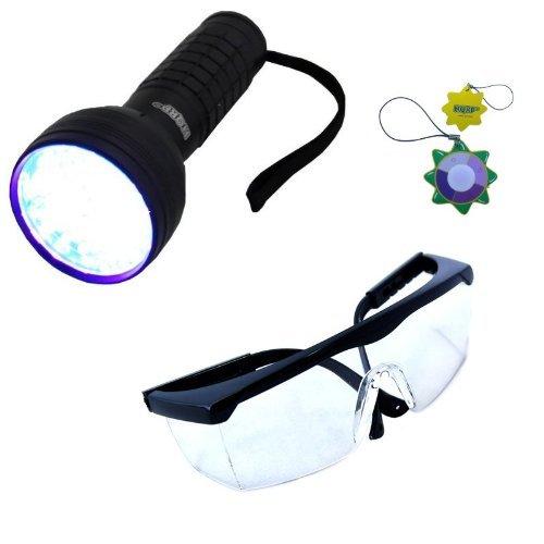 HQRP Profesional Linterna 76 LED UV Ultravioleta 390