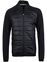 Weekend Offender Black Quilted Panel Bomber Jacket-Extra Small