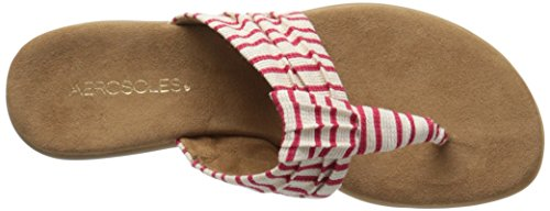 Aerosoles Chlairvoyant Toile Tongs Red stripe