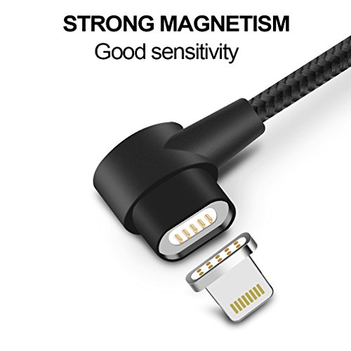 First2savvv argento Cavo Lightning Magnetico Certificato da Apple Mfi per Apple iPhone X 8 7 iPad 2.4A Veloce Ricarica e Sincronizzazione Intrecciato di Nylon, 3.3ft, Cavo di Qualità Premium CT-iphone 2 adattatore USB