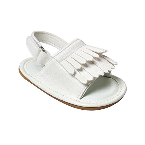 Nicetage Süß Mädchen Schuhe Laufternshuhe Krabbelschuhe für 0-18 Monate Baby Neugeborenen Schuhe Weiß
