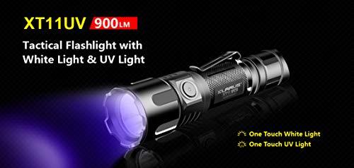 XT11UV Klarus Taktische Taschenlampe 900 Lumen mit weißem Licht und UV-Licht