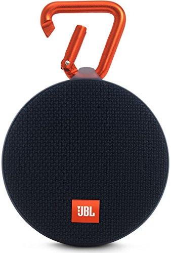JBL Clip 2 - Altavoz Bluetooth Portátil Resistencia al Agua con Batería Recargable, Sistema Manos Libres y Cable de Audio de 3,5mm Integrado - Negro