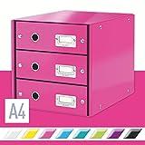 LEITZ CLICK & STORE cassettiera 3 cassetti - Fucsia metallizzato - 60480023