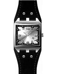 Alpha Saphir 319B - Reloj de mujer de cuarzo, correa de piel color negro