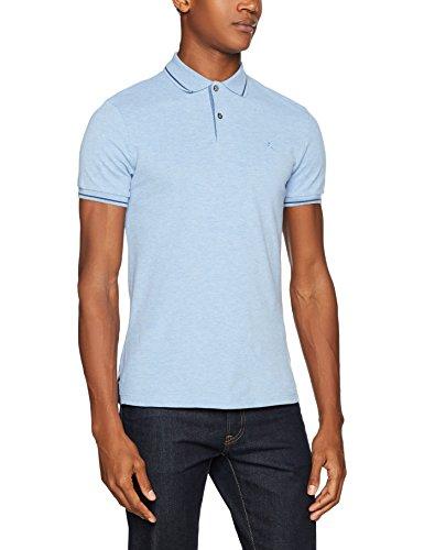 HACKETT LONDON Herren Poloshirt Marl Fine Tip Blau (513Sky 513)