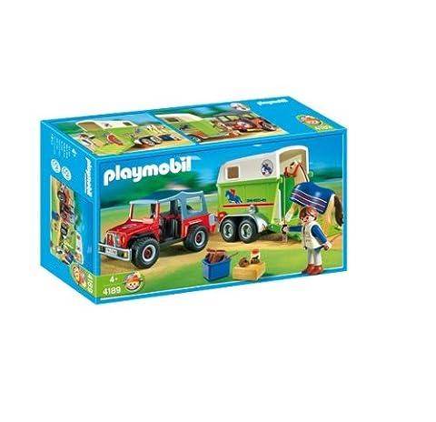 Playmobil - 4189 - Jeu de construction - Cavalier avec 4x4