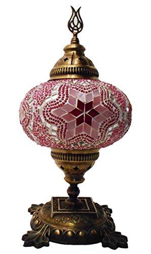 Orientalische Mosaiklampe Mosaik - Tischlampe XL Stehlampe orientalische lampe Pink stern