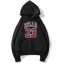 YHsports Chicago Bulls Felpe con cappuccio da uomo,Basketball jerseys f01134832bf3
