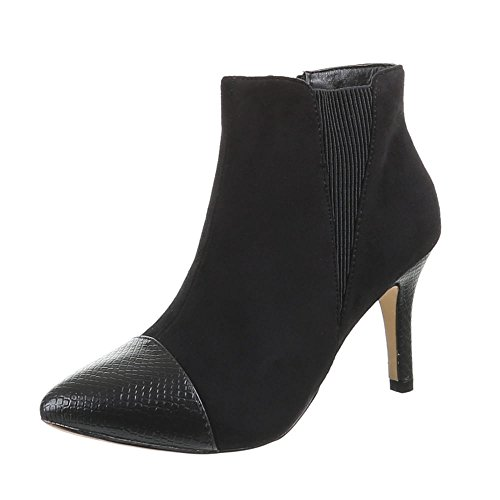 Damen Schuhe, 2019-GA, STIEFELETTEN Schwarz