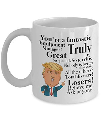 Donald Trump Coffee Mug - 11 Oz Tea Cup Gift Ideas for Equipment Manager Birthday Christmas President Conservative Republican