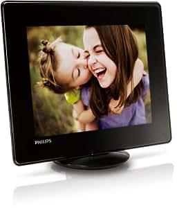 """Philips SPH8608 Cadre photo numérique 8"""" (20,3 cm) 800 x 600 Mémoire intégré 2 Go USB Noir"""