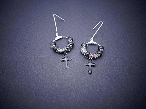 boucles-doreilles-croix-gothique-et-crole-noire-croix-noire-croles-argentes