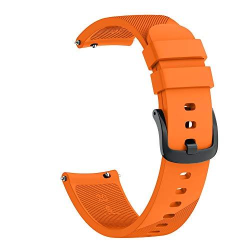 Kompatibel Samsung Galaxy Watch 42mm Armband, LederArmband klassischer Ersatzlederarmband Uhrenarmbänder Ersatzband Metallschnalle Fitnessband Schnellspanner Sportarmband (Orange)