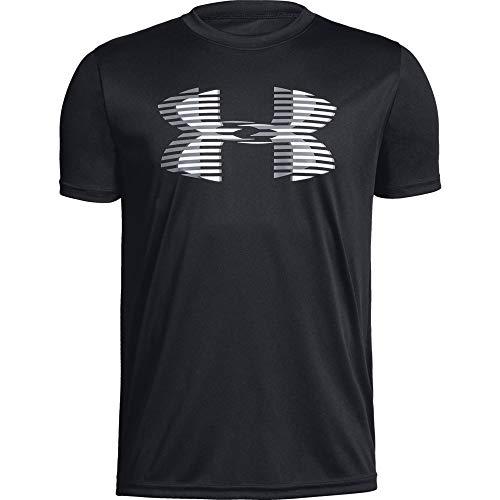 Under Armour Jungen Tech Big Logo Solid Tee Kurzarmshirt, Schwarz, YLG