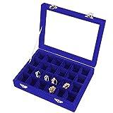 Meshela 24 Fächer Damen Schmuckkasten Schmuck Box Schmuckkoffer Schmuckständer Aufbewahrungsbox für Ringe Ohrringe Halskette