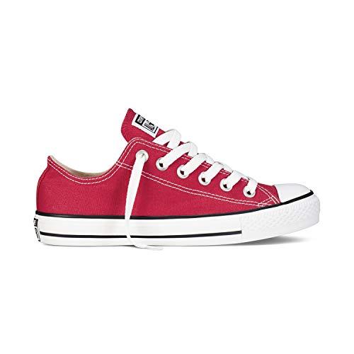 Converse Chuck Taylor All Star Unisex Zapatillas de Lona con una Pegatina de 7kmh Rojo 37.5