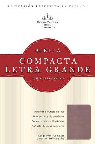 Santa Biblia / Holy Bible: Reina-Valera 1960, cristal rosado, simulacion piel / Blush, Leathertouch, referencia Biblia / Reference Bible