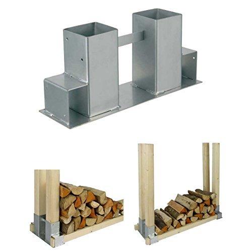 Stapelhilfe für Feuerholz-Kaminholz, 2er Set