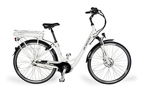 provelo Damen E-Bike Elektrofahrrad/Fahrrad/Stadtrad, Weiß, 7 Gang Nabenschaltung, Reifengröße: 71,1 cm (28 Zoll)