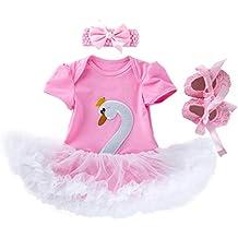 Cinnamou Traje de Tres Pieza para Bebé Recién Nacido Niñas, Conjunto de Bebes Vestido de