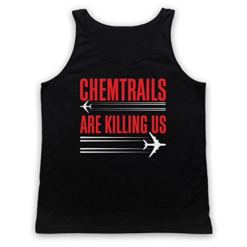 Chemtrails Are Killing Us Protest Tank-Top Weste Schwarz