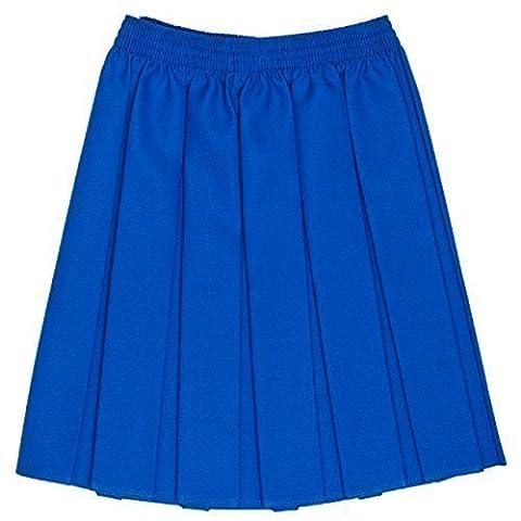 Girls School Uniform Box Pleated Elastic Skirt Royal Size 9-10 Years