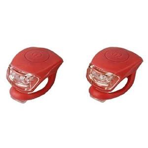 41N l476l9L. SS300 BeautyLife-Luci a LED da bicicletta, in silicone, a scatto, rosso