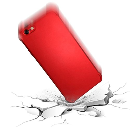 "Coque iPhone 6 6S,JEPER® 360° Protection Intégrale TPU+PC Quatre Coins Airbag Ultra Mince Anti-Choc Anti-Scratch Etui Housse pour Telephone Apple iPhone 6S Case 4.7"" Rouge"