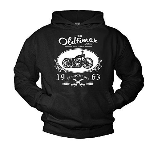 MAKAYA Chopper Kapuzenpulli für Herren schwarz Biker Logo Größe XXL