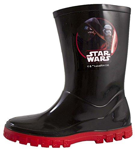 Disney Kids, Star Wars Darth Vaderr Gummistiefel Stiefel für Jungen, Größe UK 7–1, Schwarz - Kylo Ren + Stormtrooper - Größe: 25 EU Kinder