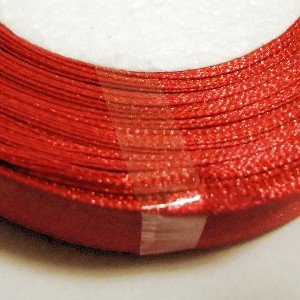 22-25 Meter 20 mm Satinband - Bright Rot c0423 23 Single Side Band