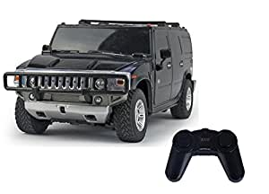 Toyhouse Officially Licensed 1:24 Hummer H2 SUV RC Scale Model Car, Black