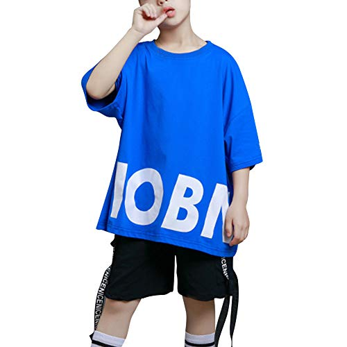 Daytwork Jungen T Shirts Shorts Sets - Kinder Anzüge Tanzen Jazz Hip Hop Modern Freestyle Kostüme Performance - Freestyle Tanzen Kostüm
