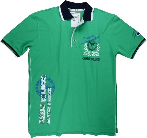 Carlo Colucci Polo-Shirt Grün