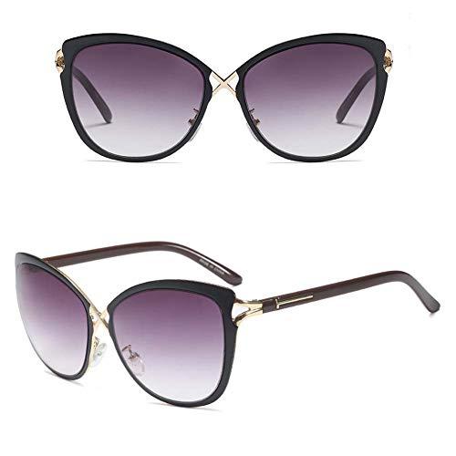 ahmen Sonnenbrille Retro Katze Augen Fahrer Brillen Street Shots Dekorative Gläser Fahren Angeln Brille,Goldgradientgray ()