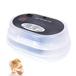 hblife 9 Eggs Mini Digital Egg Incubator Automatic Turning for Chicken Goose Duck Poultry Hatcher with Egg Tray UK plug 13