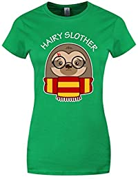Grindstore Women's Hairy Slother T-Shirt Green