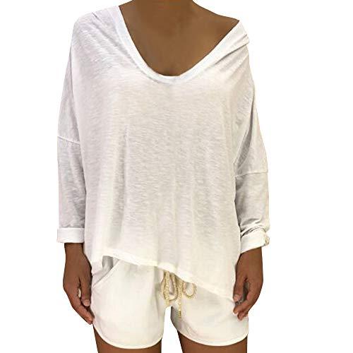 Kapuzenpullover Sweatshirt Damen Plus Size Boho Solid Bluse Pullover Hoodie Print...