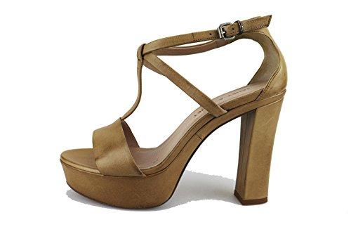 JANET & JANET sandali donna 39 EU beige pelle AG405
