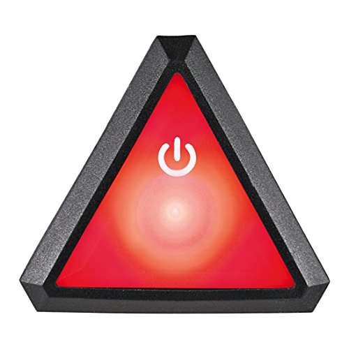 Uvex Plug-in LED XB043 Quatro Pro Fahrradhelm Beleuchtung, Red/Black, One Size