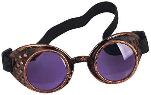 KOLCY Steampunk Brille Bunte Schutzbrillen Steampunk Brille Ellipse Gummilitze Partybrille Schmuck Einstellbar Sonnenbrille Accessoire Retro Metall Stil Gotisch