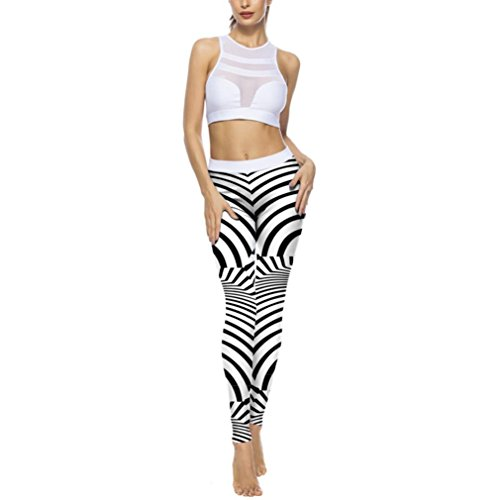 Yoga Leggings High Waist Weise Jeans Hose, Kingprost-Yoga Zebra Drucken Sport Gym Yoga Workout 3D-Druck Trainingshose Strumpfhosen Athletischen Hosen Yoga Sporthose (L)